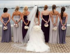Love the bridesmaids colors!!