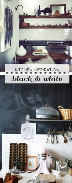 Keuken inspiratie Kitchen Appliances, Bar Kitchen, Interior Architecture, Black And White, House Ideas, Decorating, Inspiration, Furniture, Home Decor