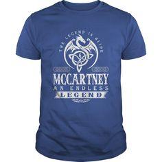 (Tshirt Choose) The Legend Is Alive MCCARTNEY An Endless Legend [TShirt 2016] Hoodies, Tee Shirts