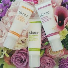 Some fresh blooms to make up for this #JuneGloom. Remember, just because it's cloudy doesn't mean you can skip the #SPF!  Which of our #Murad SPFs are you rocking this week?