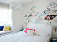 Transform a White Wall with a (Temporary) Geometric Pattern | Rue