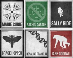 Minimalist Posters of Six Women Who Changed Science and The World -- I LOVE these and need them immediately!!!!!!!!!