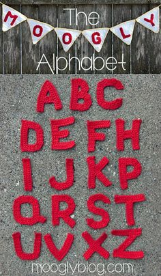 We're loving this Crochet Alphabet Pattern from @mooglyblog, featured on our #crochetaday series! @moogly has some really fabulous crochet patterns!!