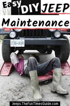 Got a new Jeep? Hesitant to get under the hood? To help you get comfortable working on your Jeep, I'll show you how to do the simplest DIY Jeep maintenance projects first. My Dream Car, Dream Cars, Jeep Rubicon Unlimited, 2004 Jeep Wrangler, 2014 Jeep Grand Cherokee, Packing Tips For Travel, Travel Hacks, Jeep 4x4, Travel Alone