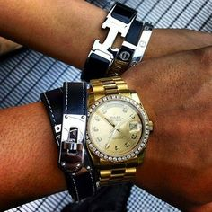 Date Night w/ My Love. #hermes #rolex #cartier by thuraoo