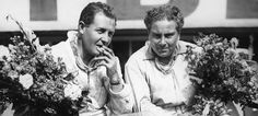 1930 Le Mans 24 Hours - 'Bentley Boys' Glen Kidston and Woolf Barnato celebrate victory