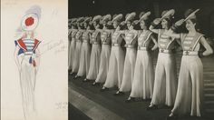 Saluting this #Rockettes naval-themed costume from 1940. #WardrobeWednesday
