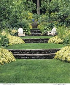 Large backyard landscaping ideas are quite many. However, for you to achieve the best landscaping for a large backyard you need to have a good design. Terraced Landscaping, Terraced Backyard, Small Backyard Landscaping, Backyard Garden Design, Terrace Garden, Landscaping Ideas, Sloped Backyard Landscaping, Hill Garden, Hillside Garden