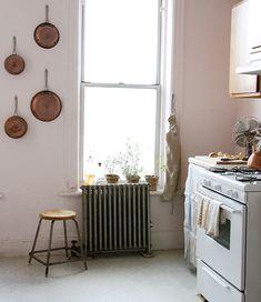 radiator and stool.