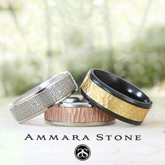 Why blend in when you can stand out? Find our amazing selection of Ammara Stone rings by following the link in our bio! . . . . #ammarastone #fashion #style #love #mensfashion #menswear #mensstyle #gold #blacktitanium #jewelry #wedding #weddingring #weddingband #madeinusa #picoftheday