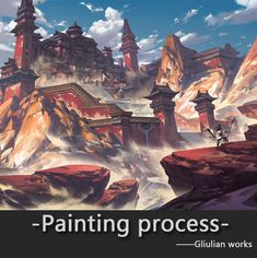 Painting process, G liulian on ArtStation at https://www.artstation.com/artwork/BvvG8