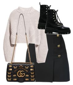 A fashion look from December 2017 by theeuropeancloset featuring Yves Saint Laurent, Altuzarra und Gucci Teen Fashion Outfits, Chic Outfits, Trendy Outfits, Fall Outfits, Womens Fashion, Mode Streetwear, Polyvore Outfits, Aesthetic Clothes, Korean Fashion