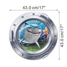 sealifes submarine portholes wall Decals 8 different designs to choose from