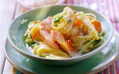 Spaghetti met zalm en ricotta