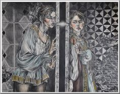"""Ch 10.20 """"...I saw Jane kissing Mr Churchill through the gate!"""" Amabel declared. This pic - Pyramus and Thisbe"""