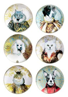 Reigning Cats and Dogs Magnet Set, #ModCloth