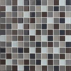Carrelage mosaique gris, marron et noir