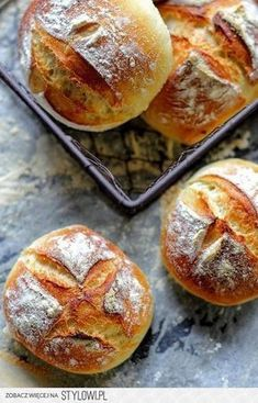 wyrośnięcia na ok 40 min 5 Love Eat, Love Food, Breakfast Desayunos, Bread And Pastries, Polish Recipes, Artisan Bread, Bread Baking, Food Inspiration, The Best