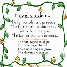 Flower Begins to Grow Preschool Childrens Song - Growing Seeds