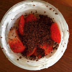 Yogur ecológico, 🍓 y cacao 90%