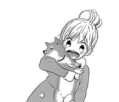 Anime girl   Kawaii   Dog