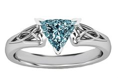1.51 carat Halo trillion blue diamond by diamondsfromnewyork