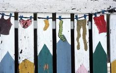 Add individual personality to your fence by painting a mural.