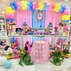 Dessert Buffet, Lucca, Candy Colors, Holidays And Events, Ideas Para, Centerpieces, Balloons, Birthday Cake, Baby Shower