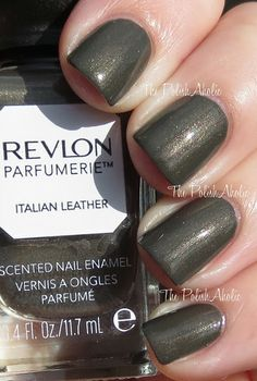 Revlon Parfumerie Italian Leather Revlon, Italian Leather, Nail Colors, My Nails, Swatch, Nail Polish, Mirror Mirror, Beauty, Fresh