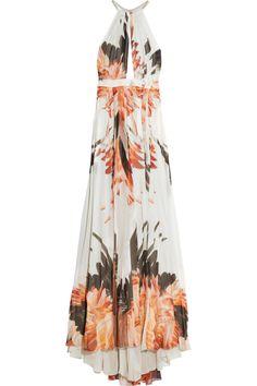 Roberto CavalliPrinted silk-chiffon gown