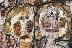 Jean Dubuffet; France; late 1940s; Informel/ Art Brut (later went on to co-found COBRA)