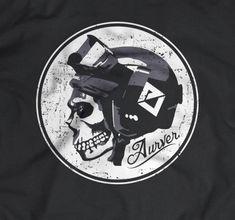 Ski/Snowboard Skull Helmet Illustration
