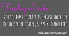 Indiana Blogger Snail Pace Transformations | Tuesday Links | 3 Podcasts on Blogging