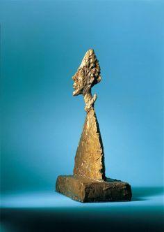 Alberto Giacometti, Schmale Büste auf Sockel (Amenophis), 1954 © Albertina, Wien - Sammlung Batliner