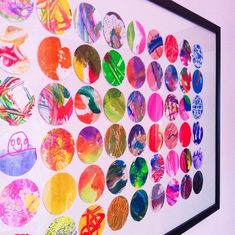 Display kids art by cutting out small circles and creating a bigger piece of Wall Art | POPSUGAR Home