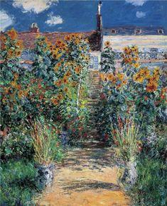 The Garden Gate - Claude Monet