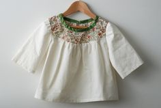 girls top / blouse / tunic with liberty tana by swallowsreturn