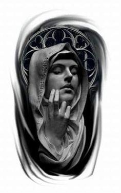 Tatuagem de estátua