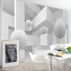 Spatial Extension Personality Wall Mural Wallpaper 3D Stereo Geometry Sphere Modern Abstract Art Fresco Office Study Home Decor #Affiliate