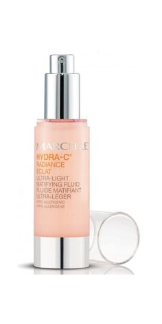 Try Marcelle Hydra-C Ultra-Light Matifying Fluid for a glowing complexion without the shine