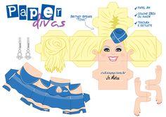 paperdivas – Rabisco Pop - Página 15 3d Paper Crafts, Paper Toys, Paper Divas, Paper Folding, Game Character, Scrapbook Paper, Printables, Fabric, Anime