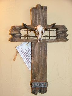 Rustic Cross with Longhorn provided by Crazy Horse Home Decor and More ...