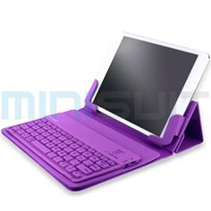 This 3-in-1 case cover has a Bluetooth Qwerty keyboard that makes this keyboard stand out from the rest: the silicone keys are water-resistant! MiniSuit's versatile tablet and keyboard dock station cover for Apple iPad Mini tablet is exclusively mad