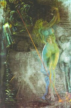 George and the Damsel) - Dali Salvador Salvador Dali Paintings, Art Visionnaire, Photo D Art, Surrealism Painting, Art Moderne, Wassily Kandinsky, Surreal Art, Art And Architecture, Figurative Art