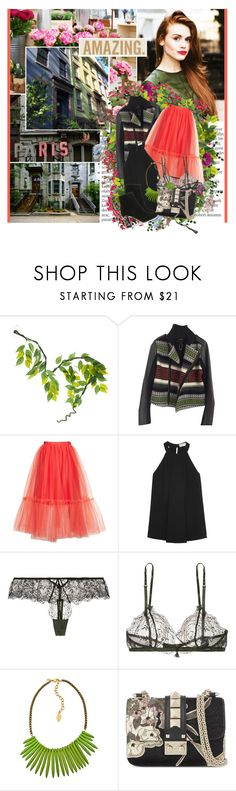 """Where you've been before and we're like the kids from Candy kissing in the grocery store"" by winfreda ❤ liked on Polyvore featuring Balmain, aNYthing, National Geographic Home, Maje, Topshop, MICHAEL Michael Kors, Heidi Klum, David Aubrey and Valentino"