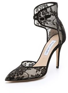 $795, Lace Accent Heels by Monique Lhuillier. Sold by shopbop.com. Click for more info: http://lookastic.com/women/shop_items/141185/redirect