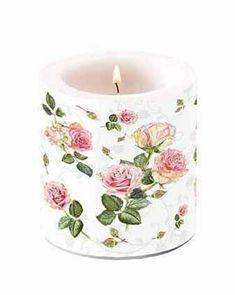 Kynttilä Ruusut 10 cm - Sisustusliike Cimla Interior Led Licht, Pillar Candles, Candle Holders, Groot, Trends, China China, Kraft Paper, Book Folding, Sunflowers
