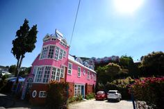 pink hotel in #Chiloe #travel #chile