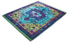 Vibrant Minimalist Design, Modern Design, Jan Kath, Classical Elements, Floor Art, Bohemian Rug, Oriental, Carpet, Vibrant