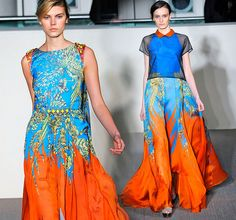more beautiful patterns and colors. Fall collection from Matthew Williamson.